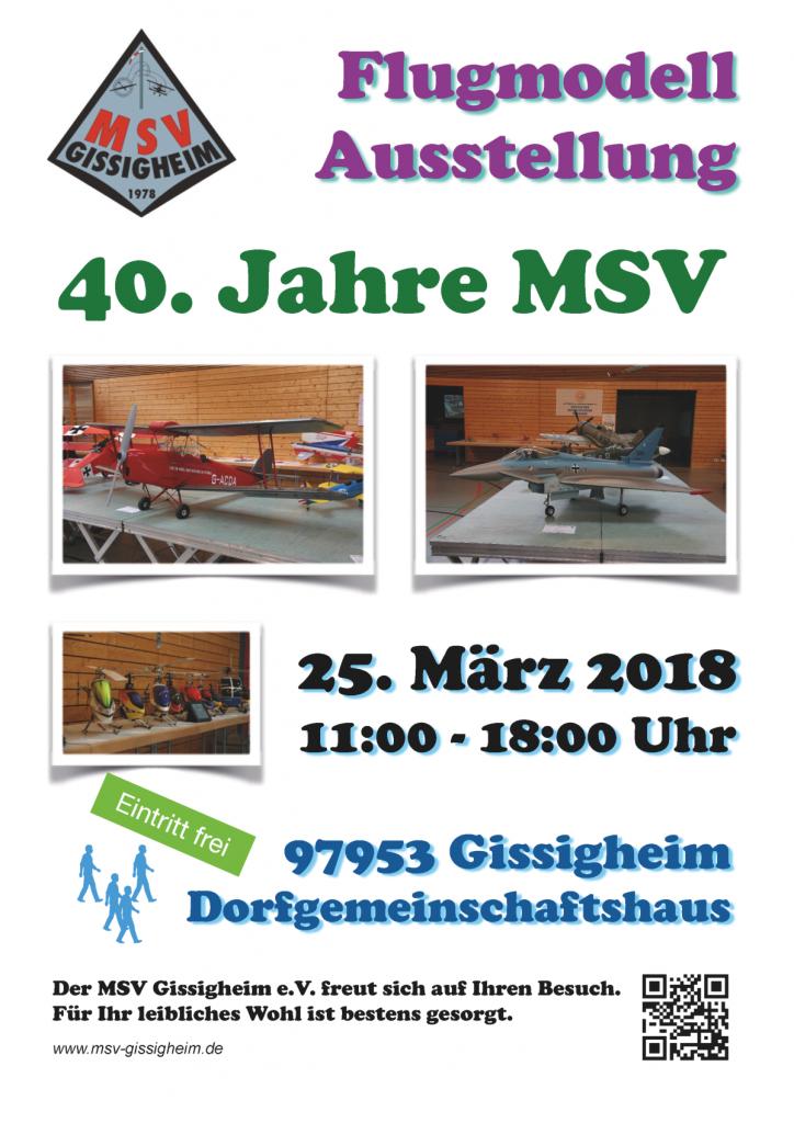 Flugmodellausstellung 40 Jahre MSV Gissigheim @ Gemeinschaftsbank Gissigheim | Königheim | Baden-Württemberg | Deutschland